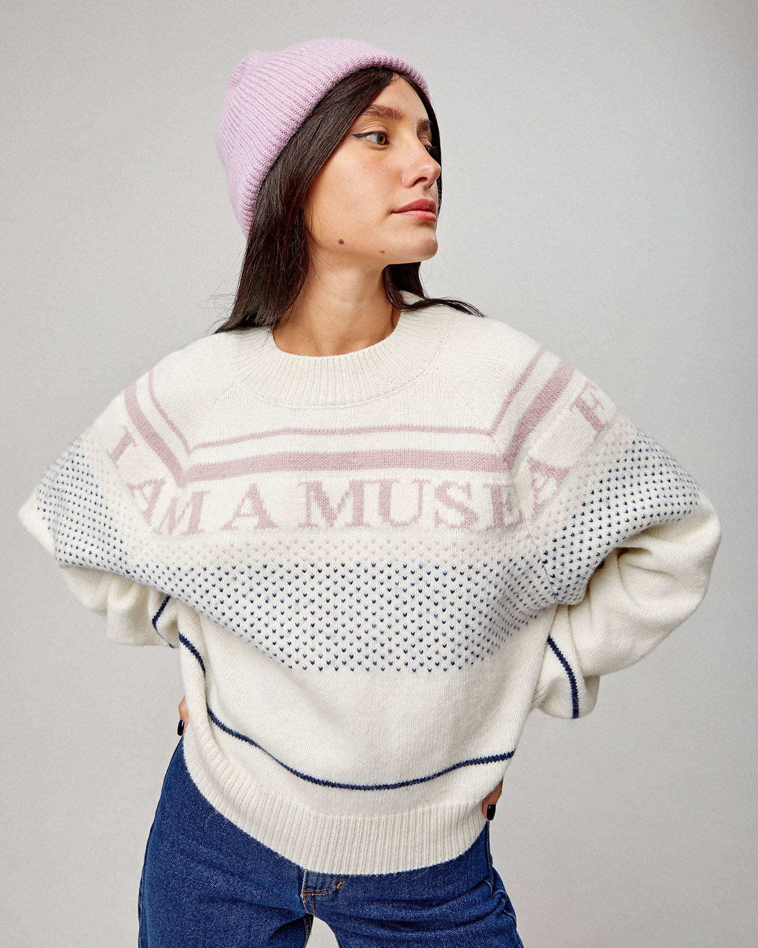 I Am A Muse intarsia sweater