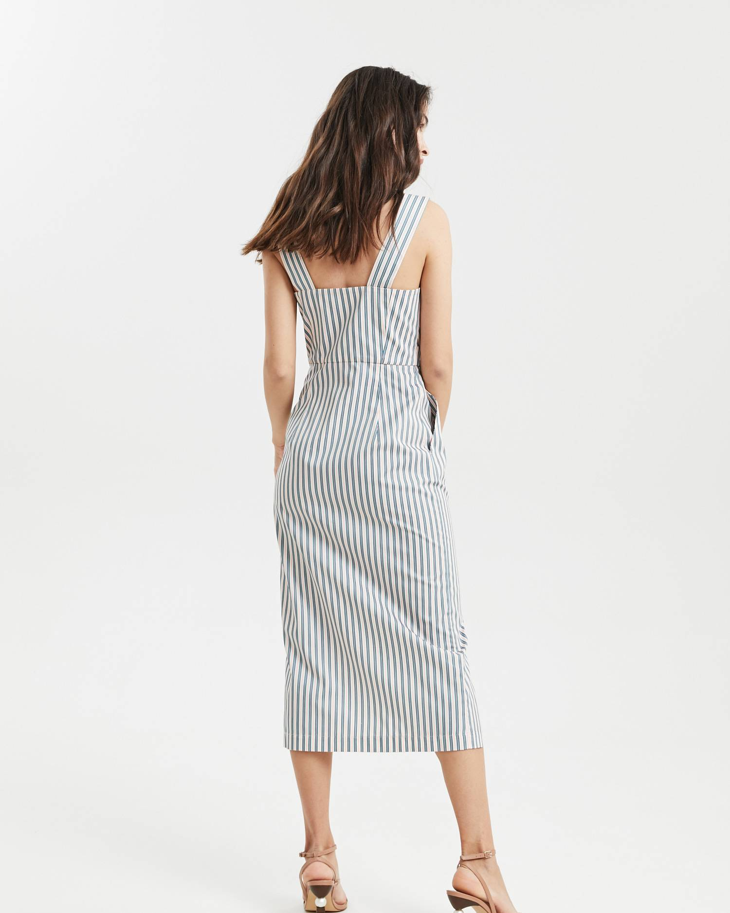 Button midi dress