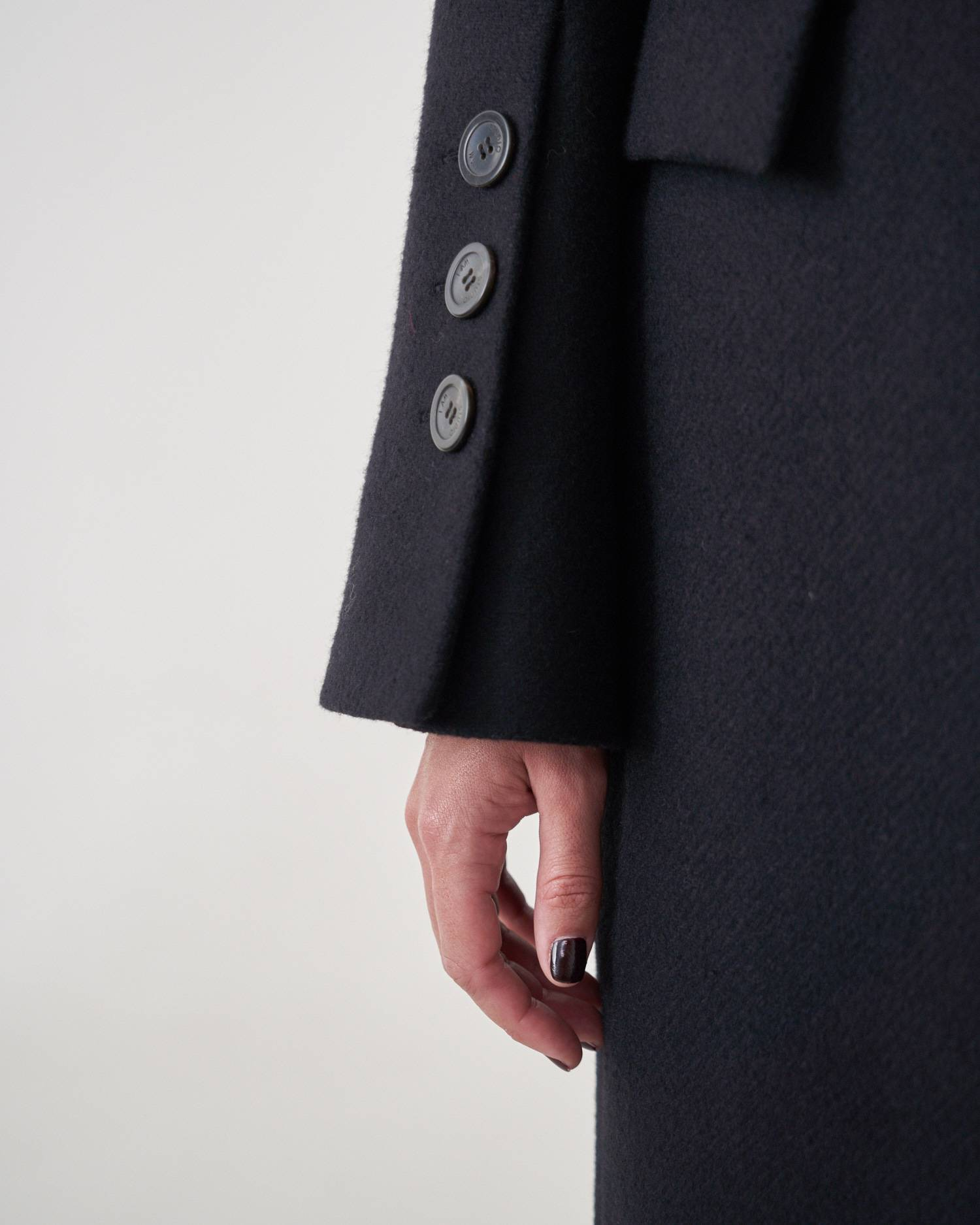 Fitted belted coat