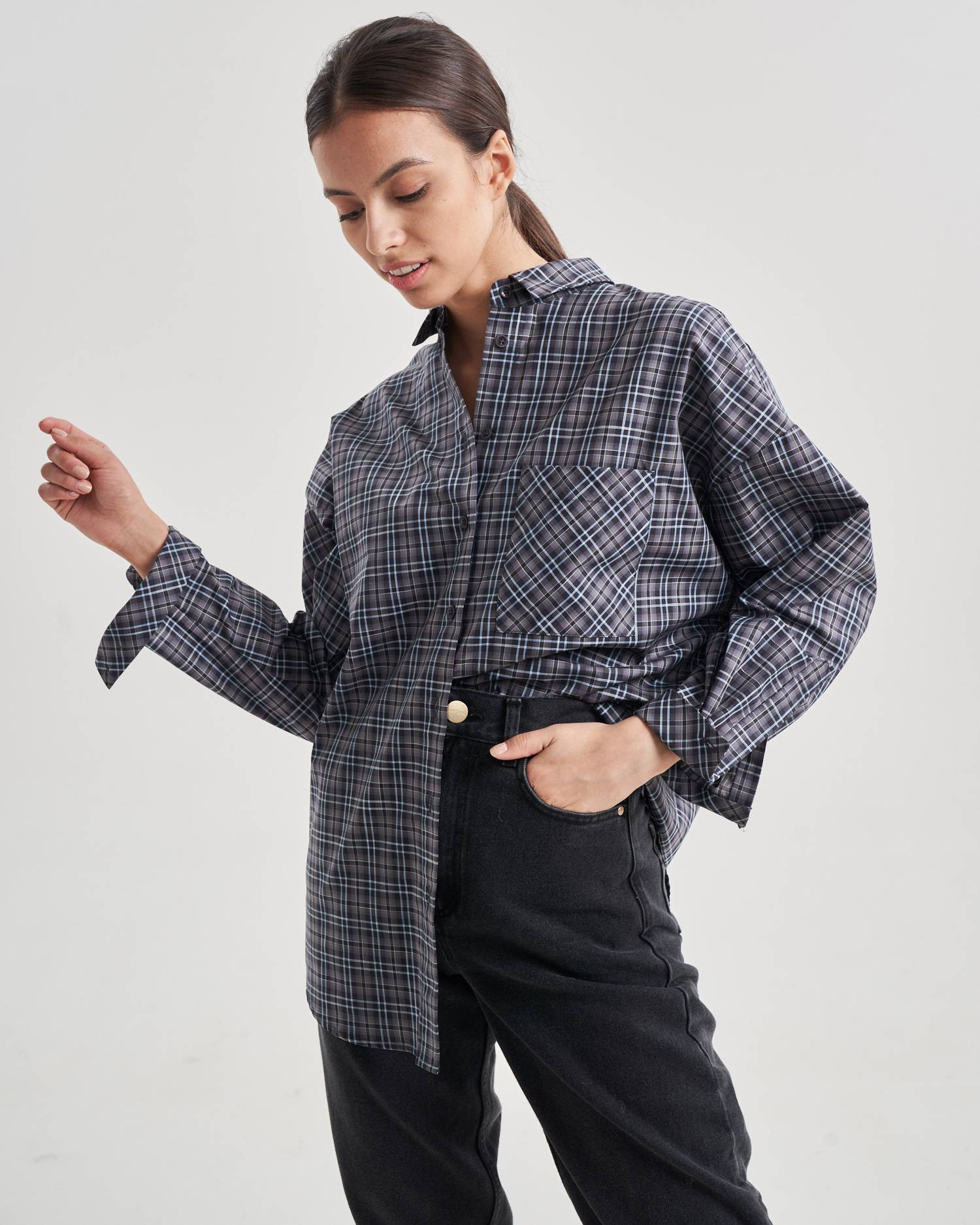 Cotton oversize shirt