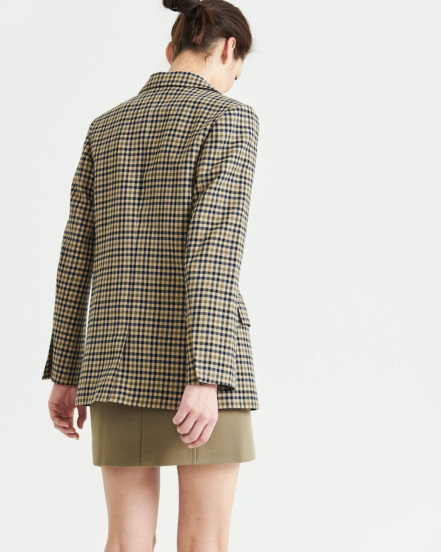 Single-breasted checked blazer