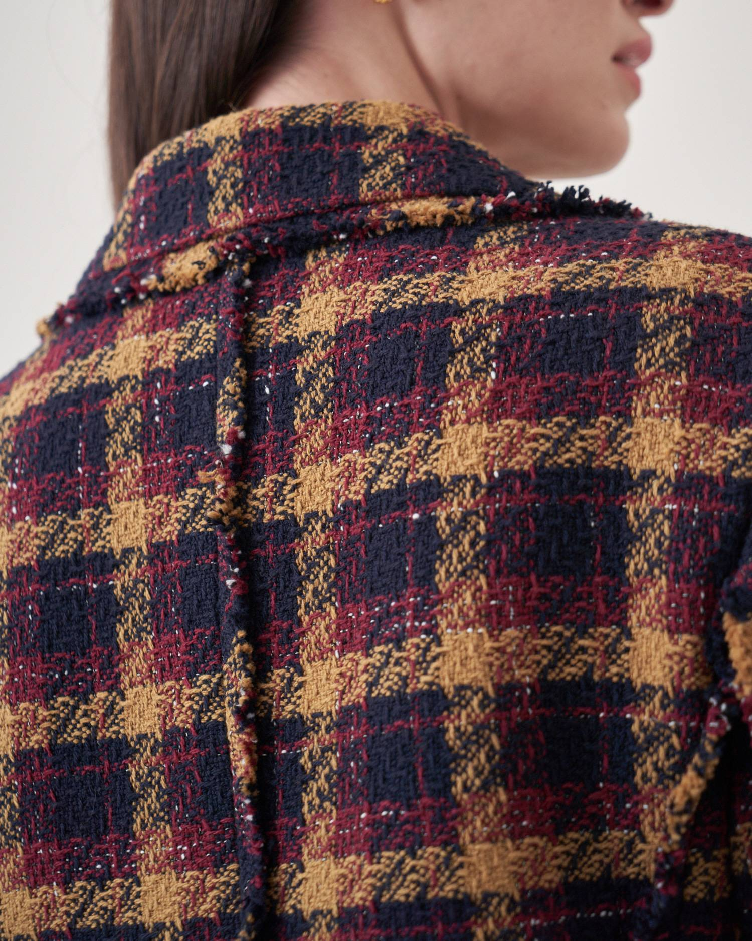 Fitted boucle tweed jacket