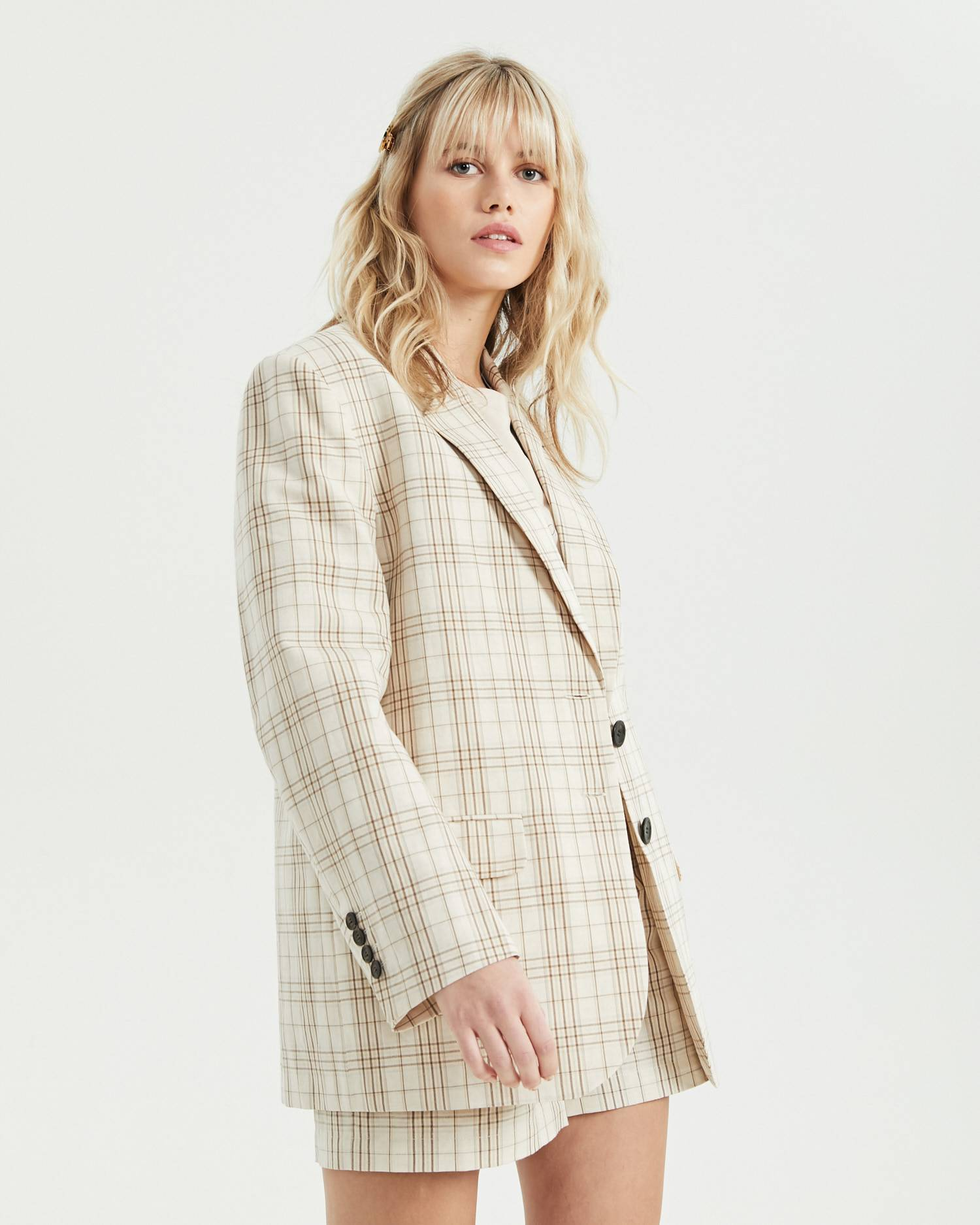 Single-breasted menswear checked jacket