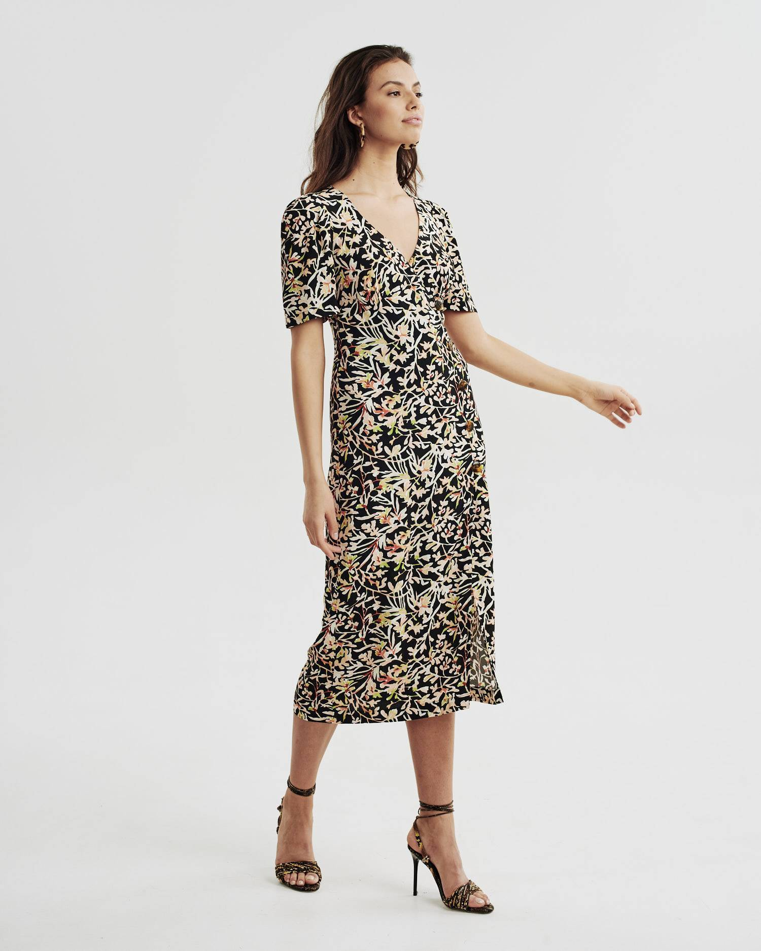 Printed tea dress