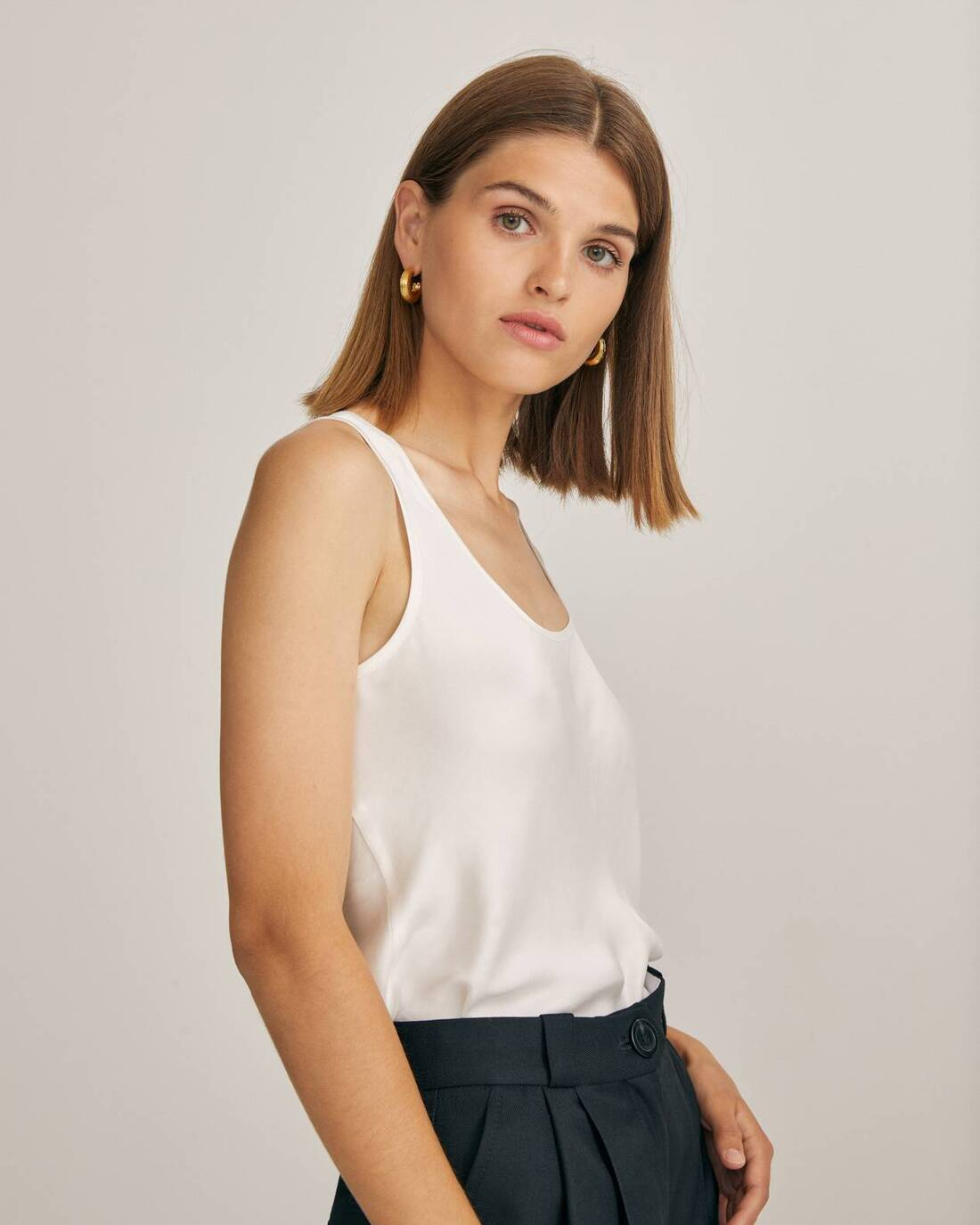 Satin bias-cut top