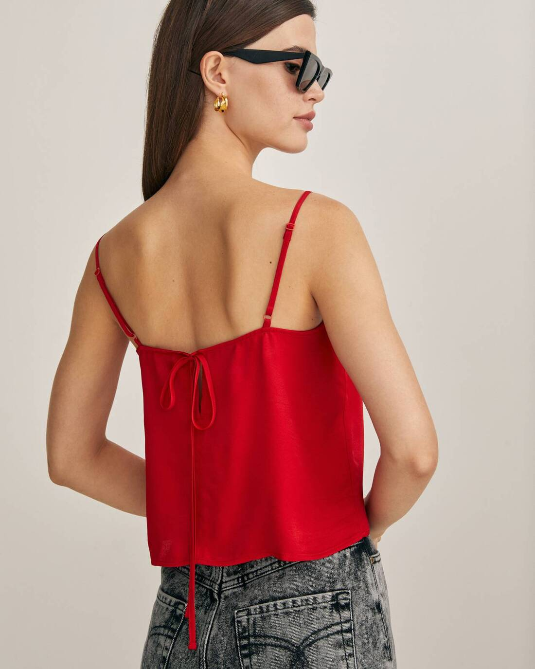 Flowy top with spaghetti straps