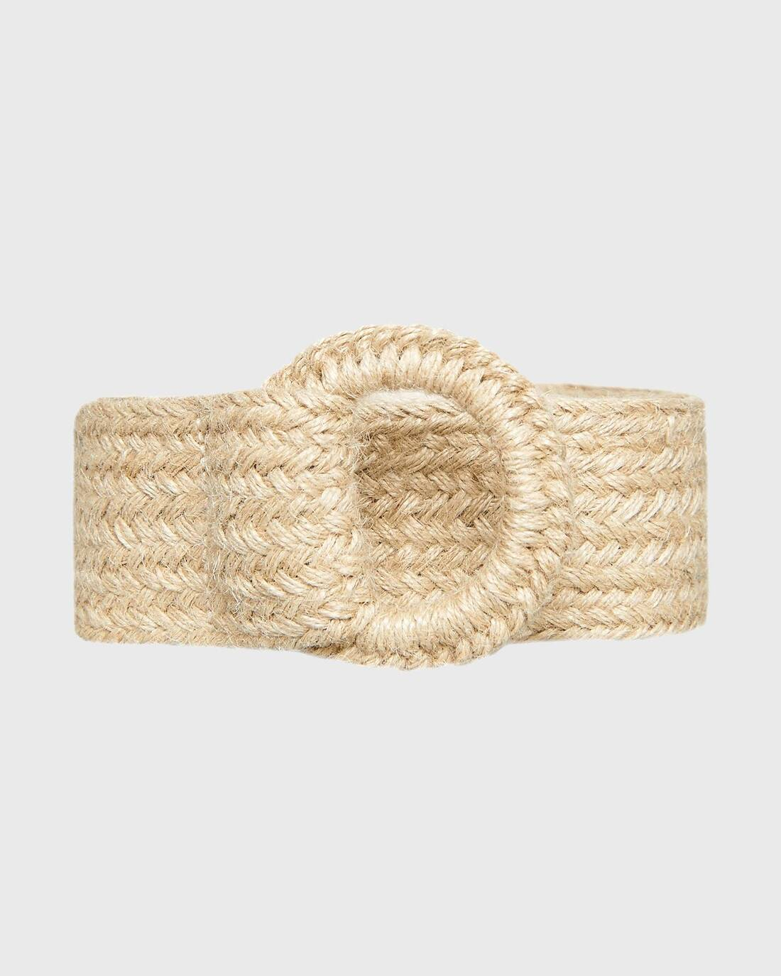 Soft woven belt with buckle