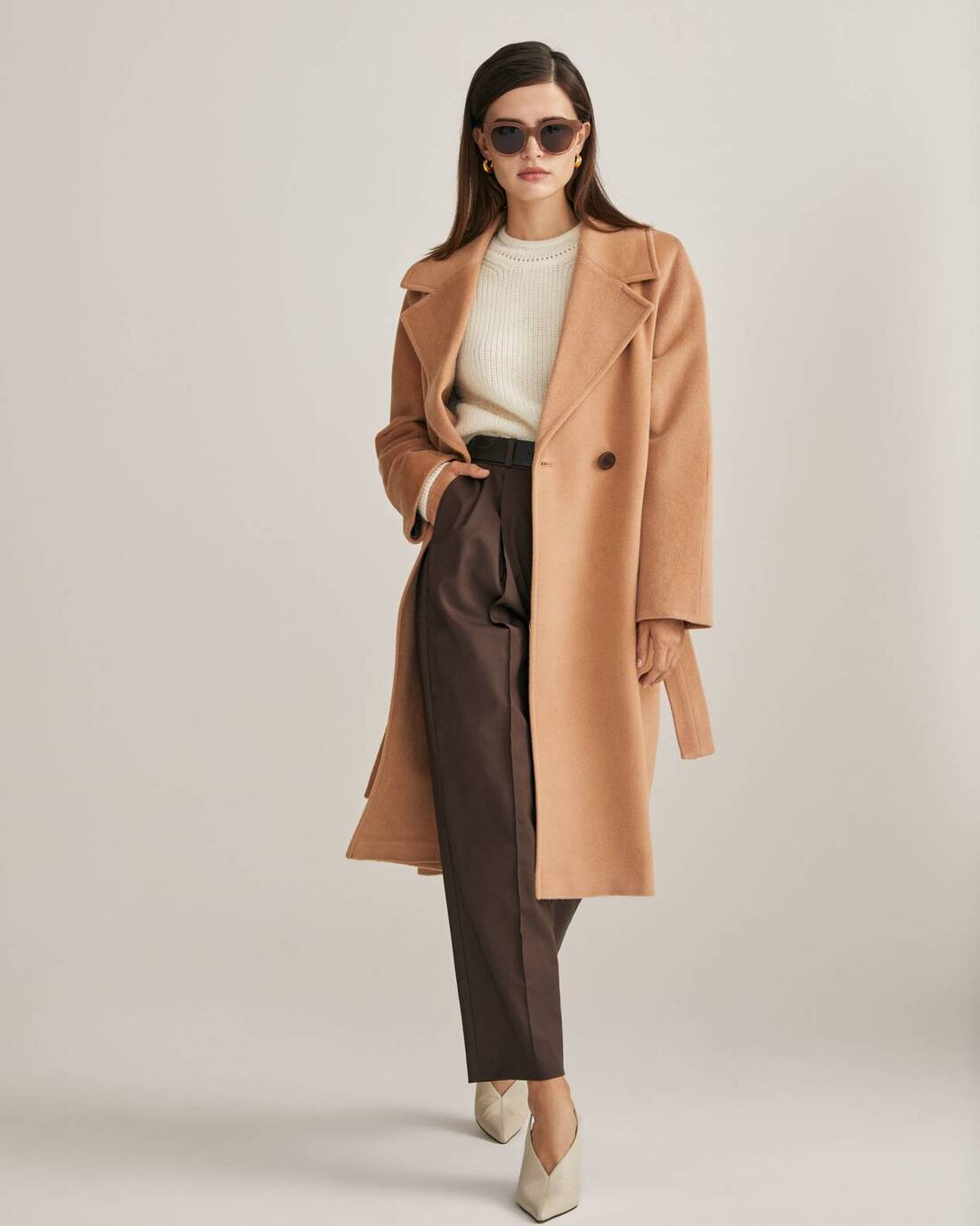 Tonal robe coat