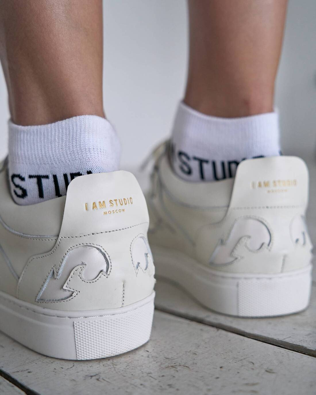 Cotton logo socks