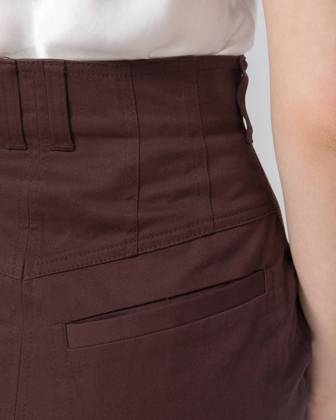 Twill mini skirt with relief detailing