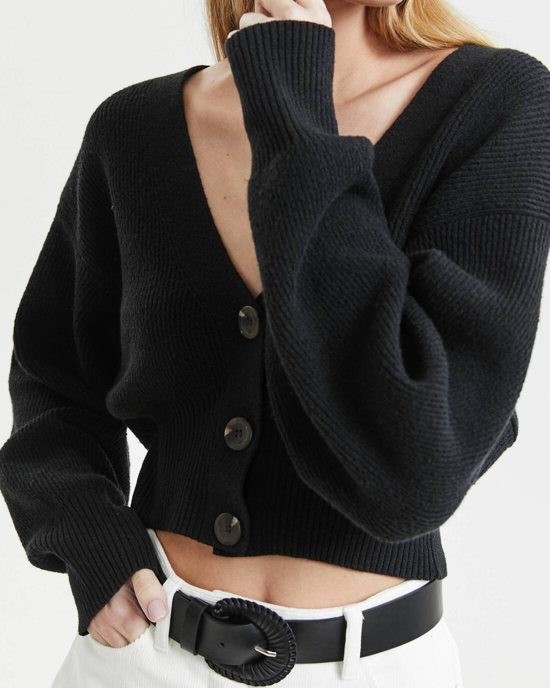 Knit cropped cardigan