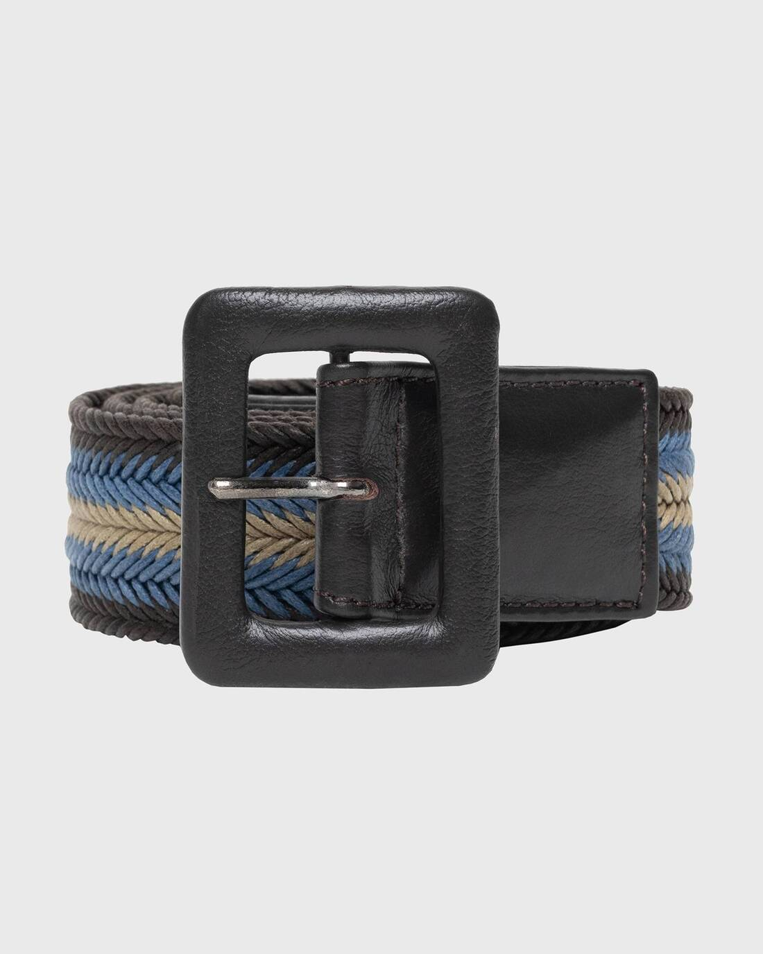 Striped buckled belt