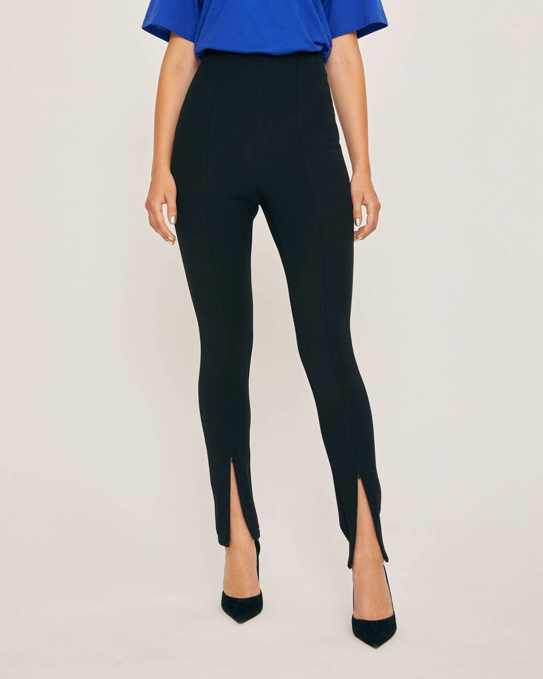 Leggings with contrast stitching