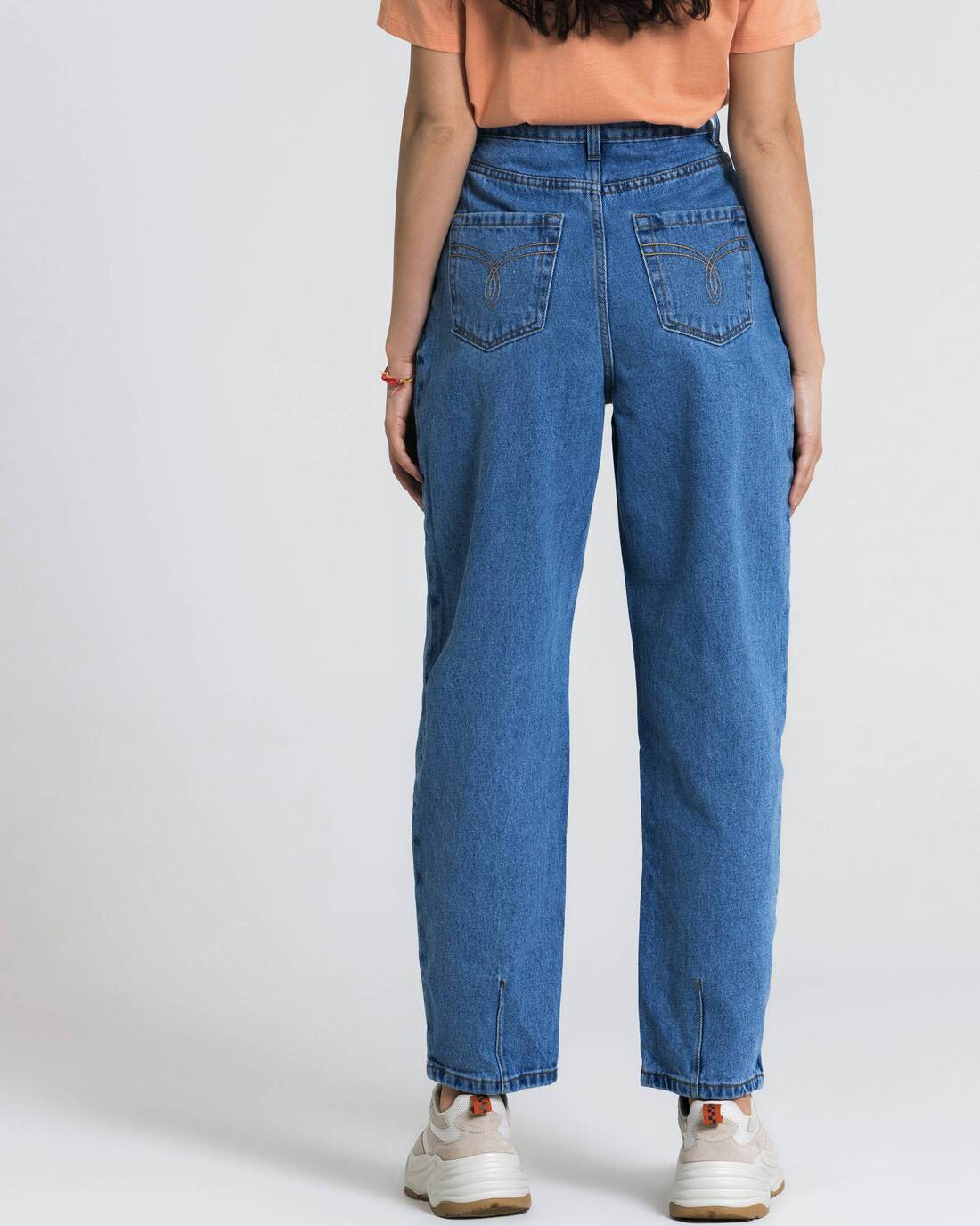 Pleated fit jeans