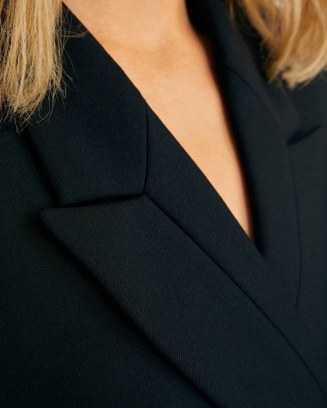 Double-breasted jacket with notched lapels