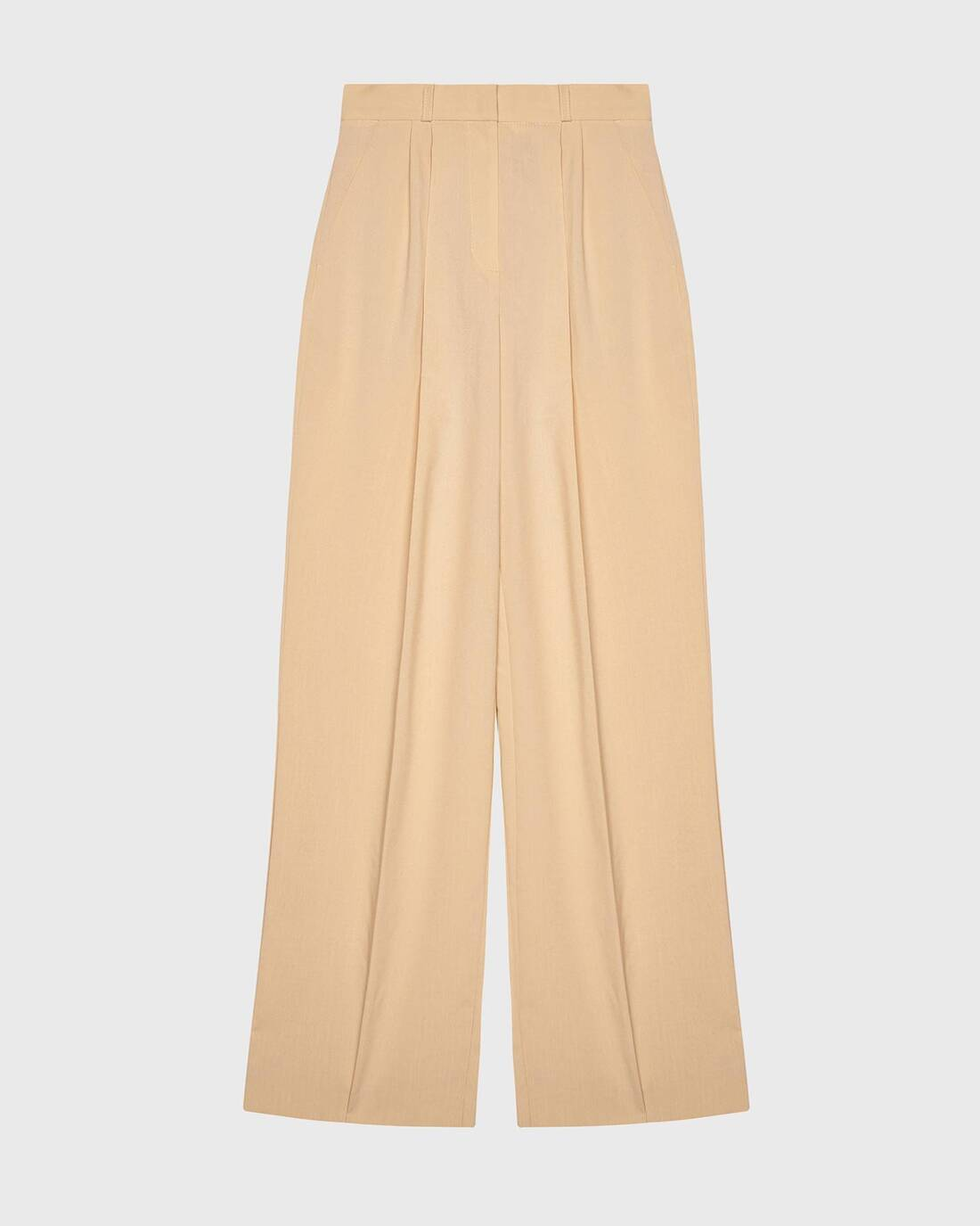 Costume pants with pleats