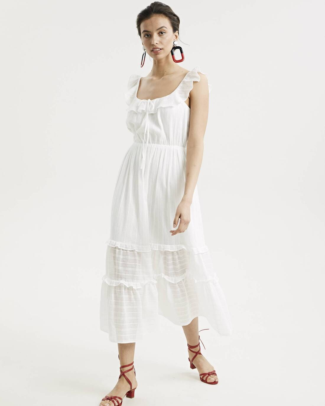 Cotton ruched dress