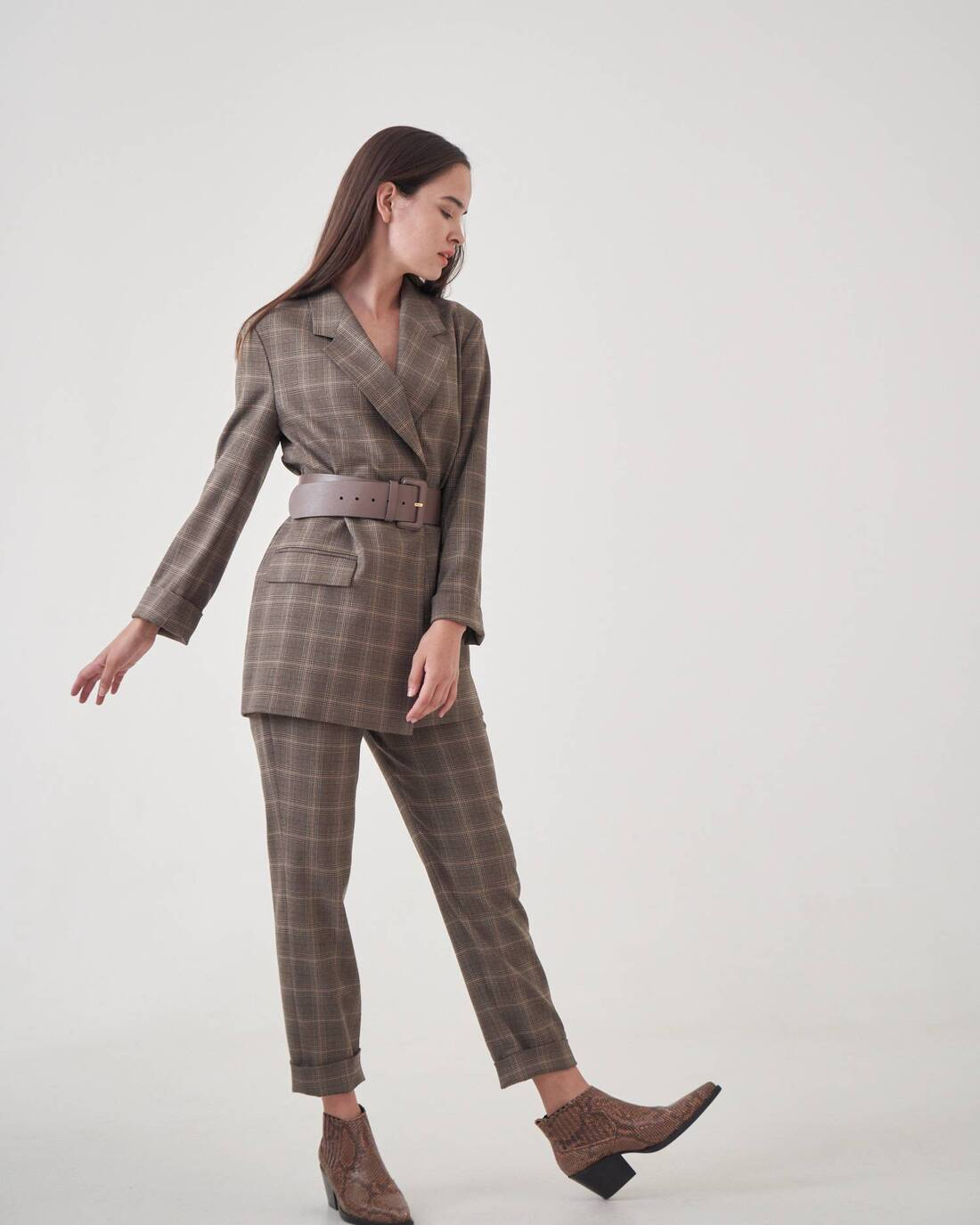 Checked pantsuit