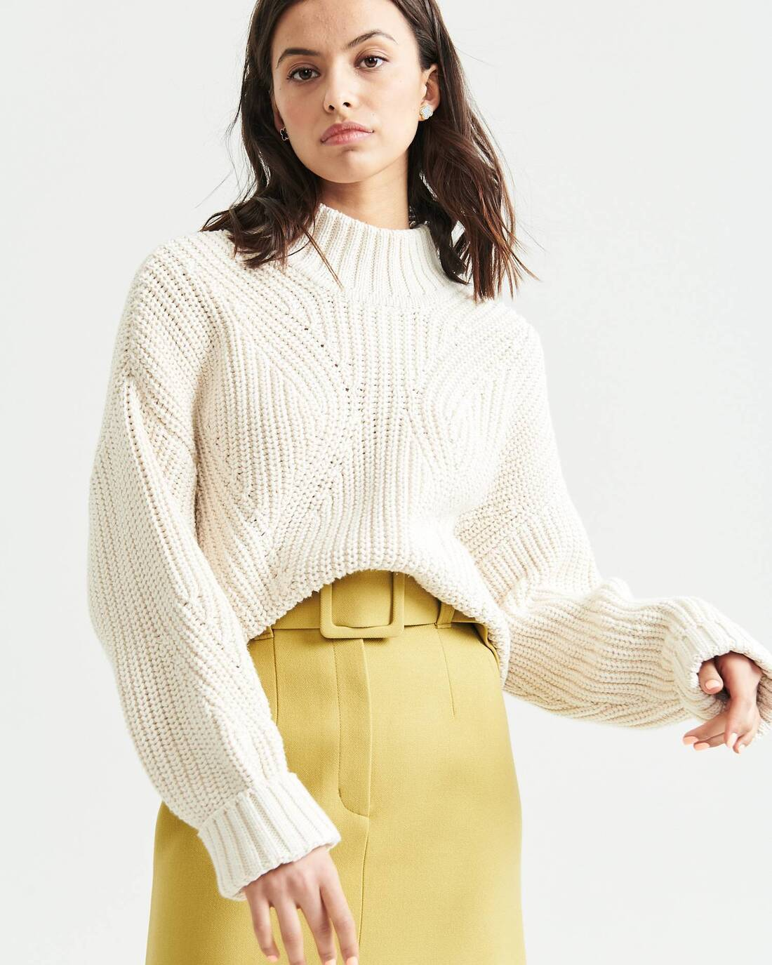 Oversize knit sweater