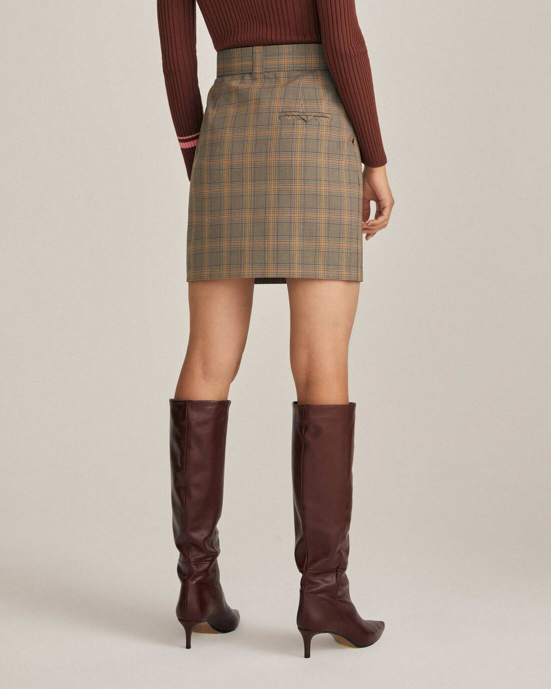 Costume mini skirt with a belt
