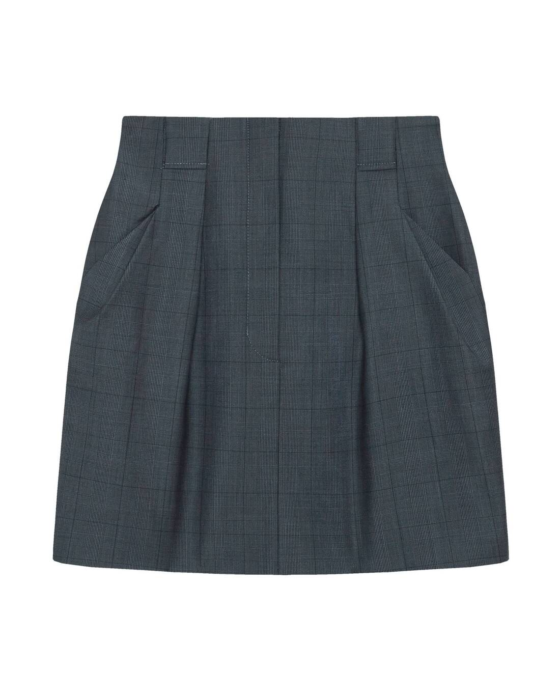 Tucked mini-skirt