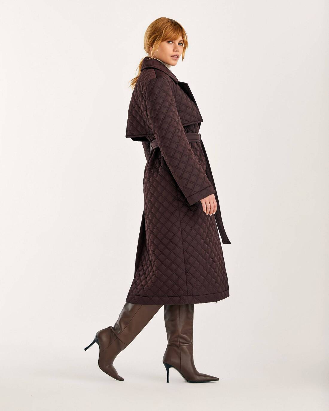 Padded trench coat