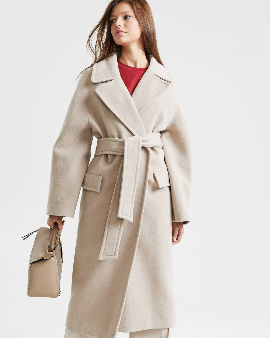 Wool robe coat