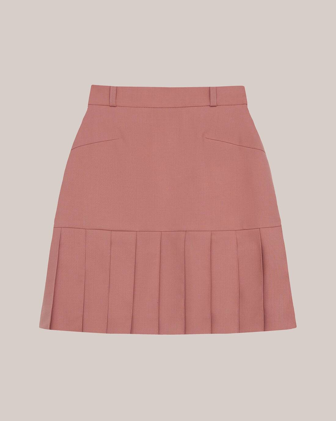 Mini skirt with gussets