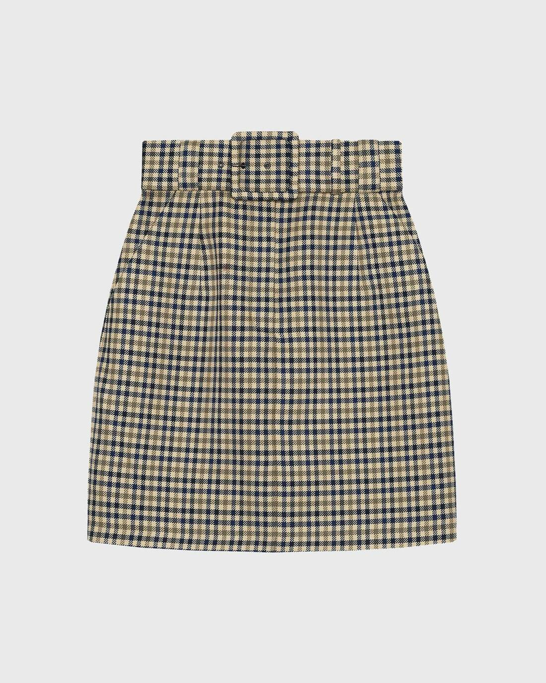 Checked mini skirt