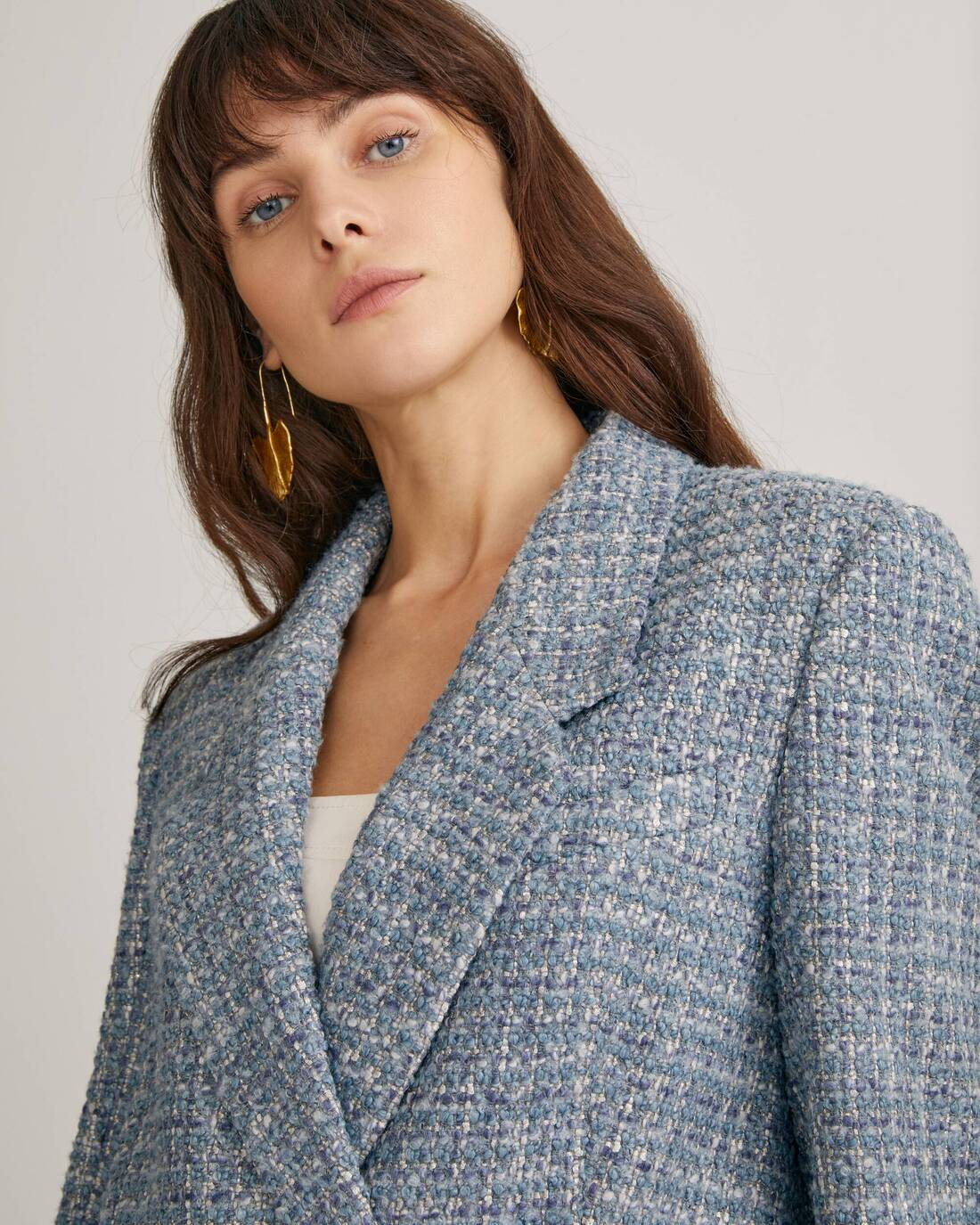 Double-breasted boucle jacket