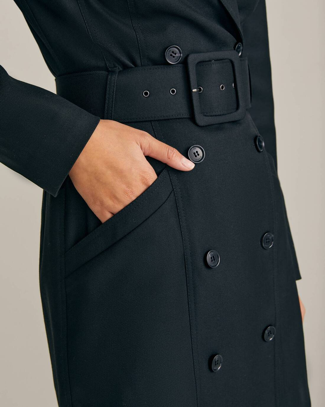 Double-breasted jacket dress