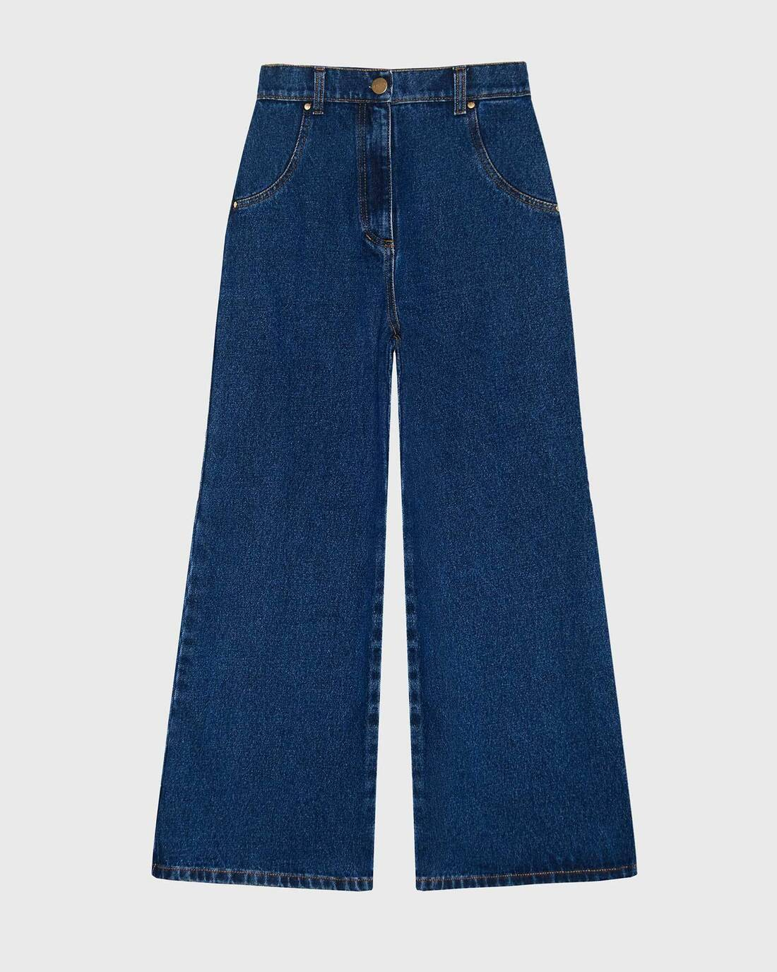 Boot cut dark wash denim jeans