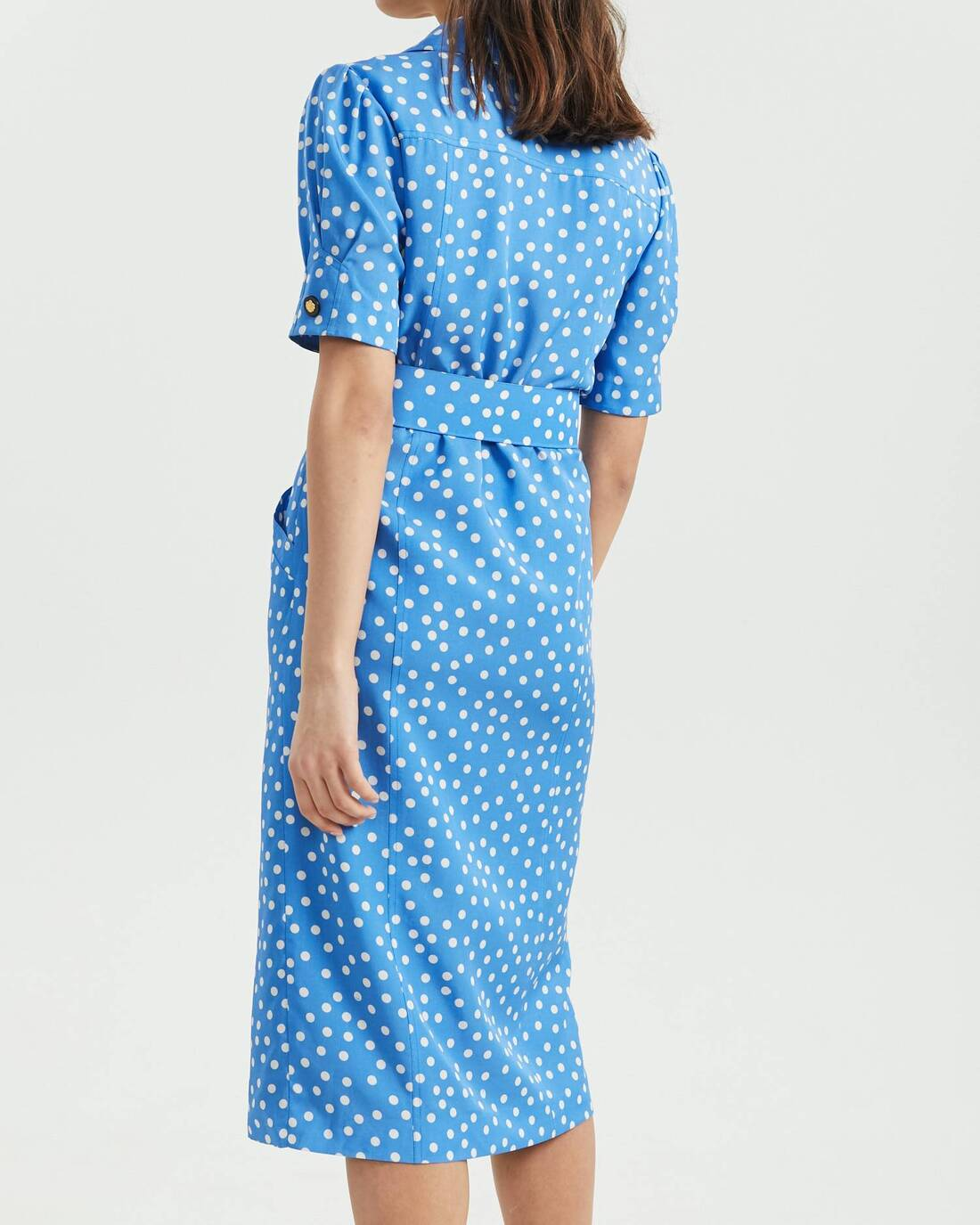 Printed vintage style suit dress
